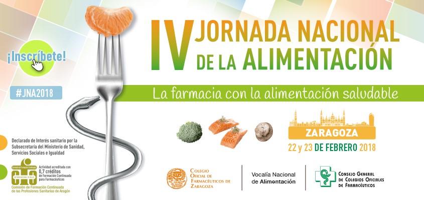 La farmacia con la alimentación saludable: IV Jornada Nacional de la Alimentación en Zaragoza