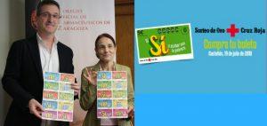 Los farmacéuticos de Zaragoza participan en la venta del 'Sorteo de Oro' de Cruz Roja