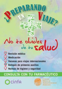 Consejos para viajar con salud. Consulta con tu farmacéutico.