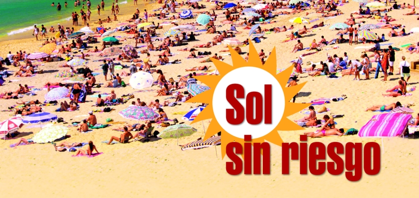 Carpas informativas sobre protección solar en las piscinas municipales de Zaragoza