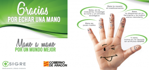 """SIGRE lanza en Aragón la campaña """"GRACIAS POR ECHAR UNA MANO"""""""