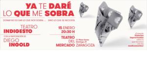 Farmamundi reivindica las donaciones responsables de medicamentos a través de una gira teatral en Aragón, que llega a Zaragoza el 15 de enero