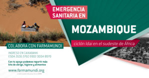 Cartel emergencia Farmamundi Mozambique