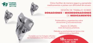 18 de marzo. Sesión de trabajo sobre donaciones y microdonaciones de medicamentos (presencial y online)