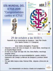 """Jornada """"Comprometidos con el ictus"""". 29 de octubre de 2019"""