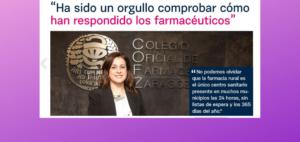 «Ha sido un orgullo comprobar cómo han respondido los farmacéuticos»: entrevista a Raquel García Fuentes, presidenta del Colegio de Farmacéuticos de Zaragoza en la revista Mundo Cofares.