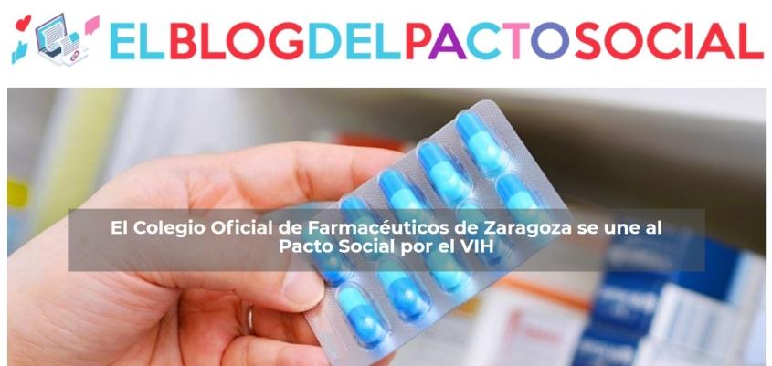 El Colegio de Farmacéuticos de Zaragoza se adhiere al Pacto Social por el VIH #SomosPactoSocialVIH