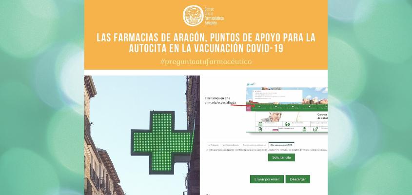 Las farmacias aragonesas ayudan a los pacientes en la solicitud de cita para la vacunación frente al COVID-19