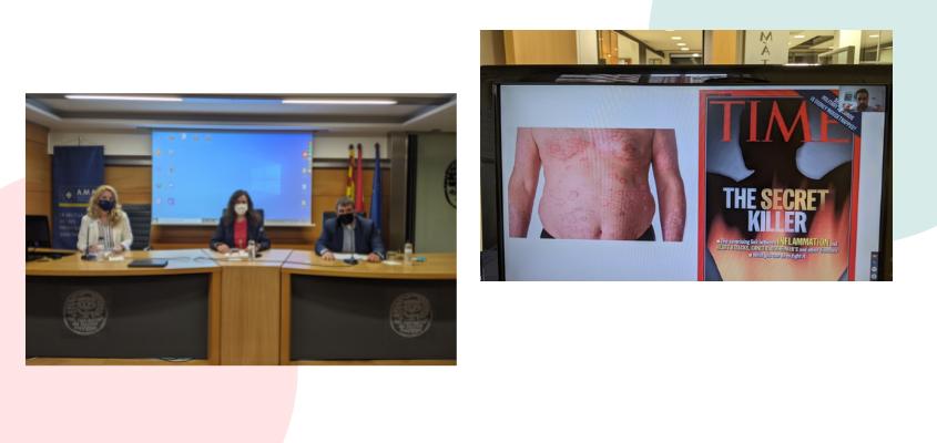 """Acción Psoriasis y el Colegio de Farmacéuticos de Zaragoza analizan las consecuencias de la psoriasis """"más allá de la piel"""""""